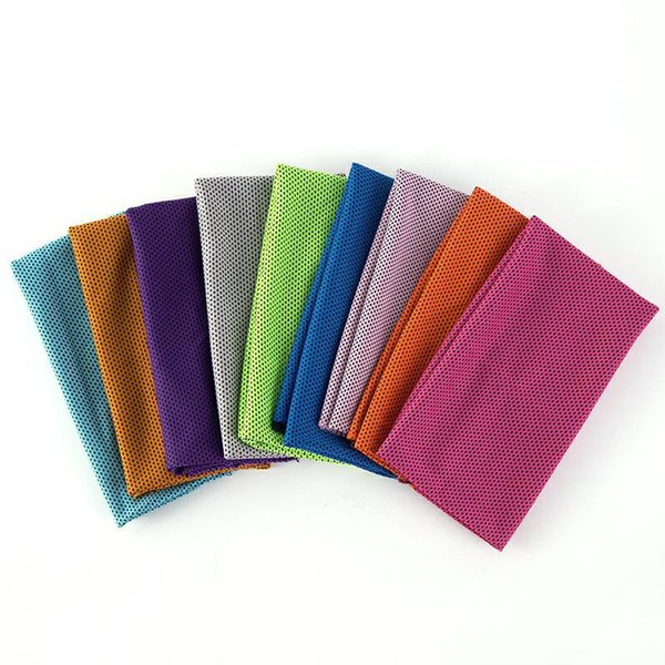 30*90cm Ice Cold Towel Dual Colors Cooling Summer Sunstroke Sports GYM Cool Scarf Quick Dry Breathable Cooling Towels Blankets NEW
