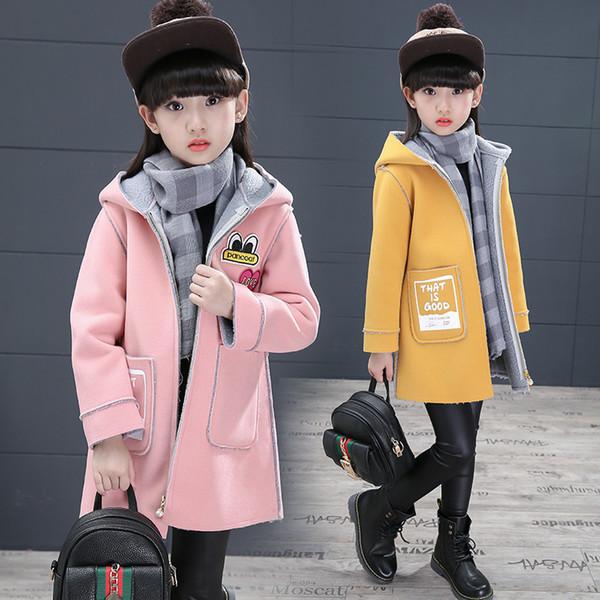 OLEKID 2019 Spring Autumn Children Jacket For Girls Hooded Printed Girls Outerwear Coat 4-11 Years Kids Teenage Winter Jacket