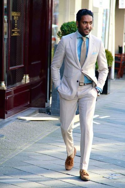 Latest Coat Pant Designs Casual Linen Men Suits Summer Beach Wedding Suits For Men Groom Party Prom Man Blazer Street Wear