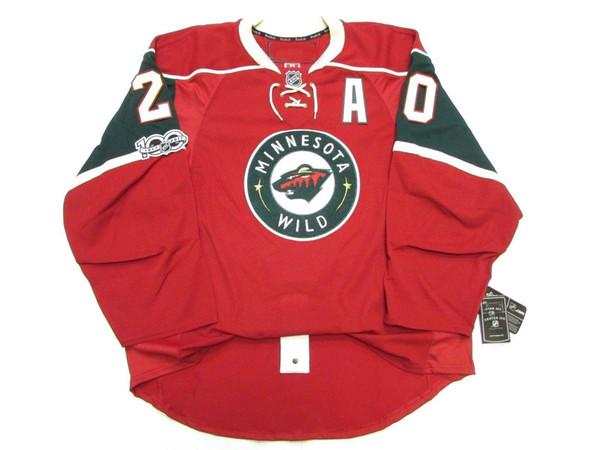 Cheap custom Ryan Suter MINNESOTA WILD HOME 100th ANNIVERSARY EDGE 2.0 7287 JERSEY stitch add any number any name Mens Hockey Jersey XS-5XL