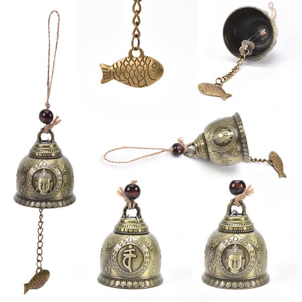 Hot Sale Buddha Statue Pattern Bell Blessing Feng Shui Wind Chime For Good Luck Fortune Home Car Hanging Decor Gift Crafts Mens Fun Gifts Mens Funny