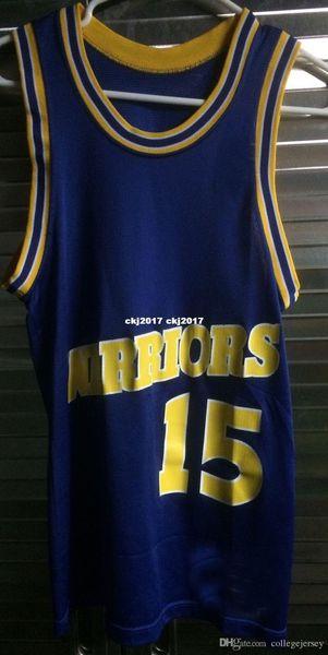 # 15 T-shirt da veste camisola de basquetebol costurado do atacado baratos Latrell Sprewell Jersey 90 NCAA