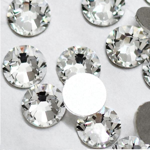 Super Deal Shiny 1440pcs Ss3 To Ss10 Non 2019 Glass Rhinestone Clear Crystal 3d Nail Art Decoration Flatback Glue On Stone Diy