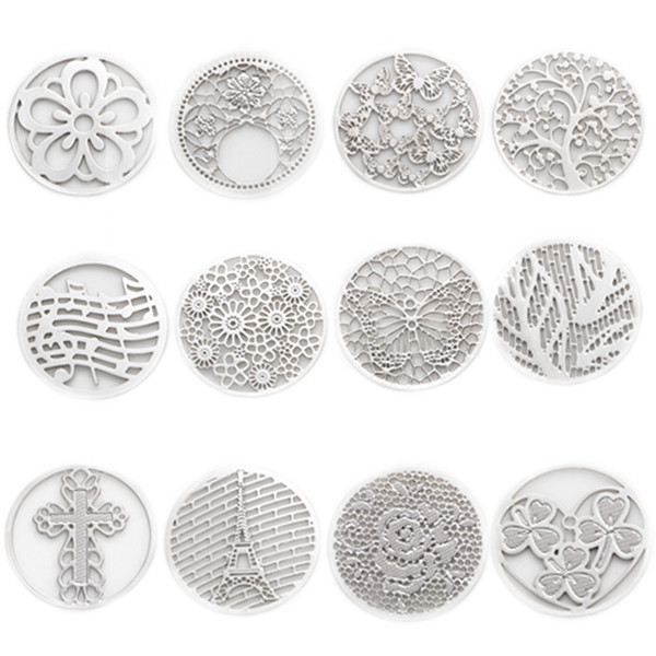 window plate 2016 Hot sale 22mm new design 10pcs Round Window Plate Charms Silver Floating Plates fit 30mm Glass Locket , WS-13-01