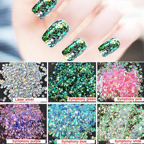 1 Paket Balık Pulu Tırnak Pul Fototerapi Tırnak Glitter Süslemeleri Manikür Aracı Dazzle Glitter