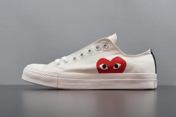Ücretsiz kargo 1970 S Come CDG des GARÇONS OYUN x Conv ChuckTaylor Gizli Kalp Yüksek Üst Orijinal Kutusu Ile CDG Eğitmenler Ayakkabı Sneaker
