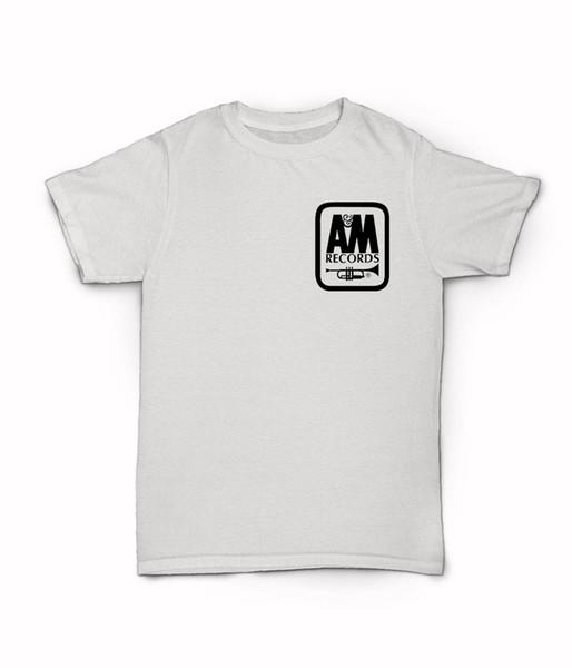 AM Kayıtları Logo T Shirt - Klasik Müzik Etiket - Herb Alpert - Polygram Tees Özel Jersey tişörtlü hoodie hip hop t-shirt