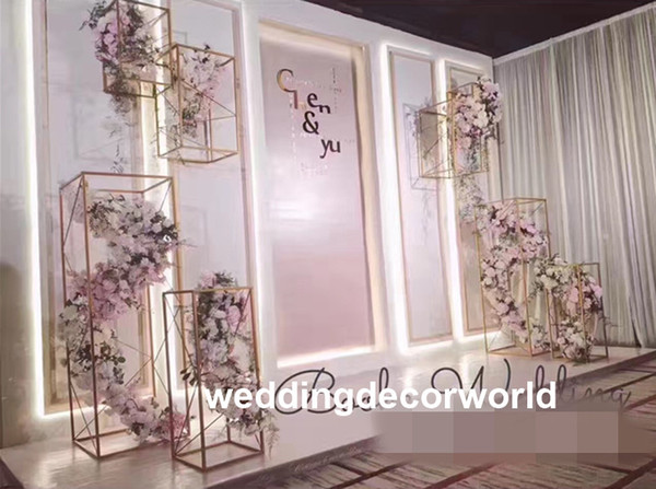 Cheap Metal Flower Pot Stand For Wedding Decoration luxury large Home Furniture wedding stage decoration flower stand for wedding stage deco