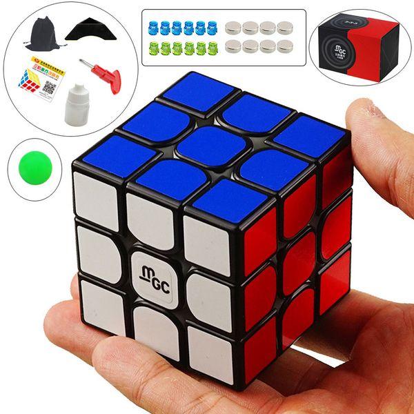 Yj Mgc 3x3x3 Magnetico Neo Magic Nero / mix Colore Puzzle Velocità Cubo Cervello Giocattoli di Formazione Per Bambini Bambini Adulti Q190530