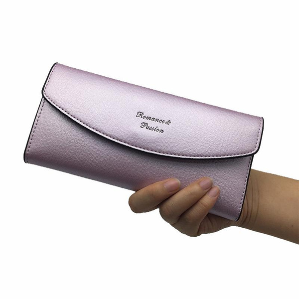 2019 New Fashion Women Wallet Brand 3 Fold Envelope Women Wallets Hot Solid Color Soft Long Thin Purse Female Portefeuille Femme