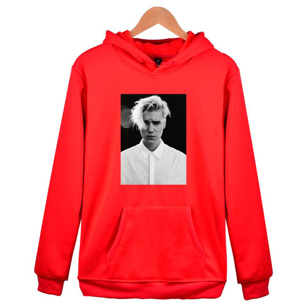 New Hot Justin Bieber STAFF Style Cap Male Long Hoodies Fashion Men Women Clothes Hooded Sweatshirts Unisex Hoodies Clothes Coat