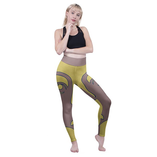 Girls High Waist Leggings Face Limits 3D Graphic Full Print Sportwear Trousers Women Fitness Pencil Fit Lady Casual Soft Yoga Pants (Y52067)