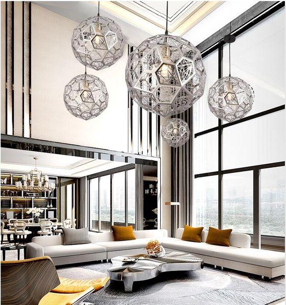 lâmpadas bola geométrico do diamante do quarto personalidade criativa restaurante bar lustre roupas escada loja polígono