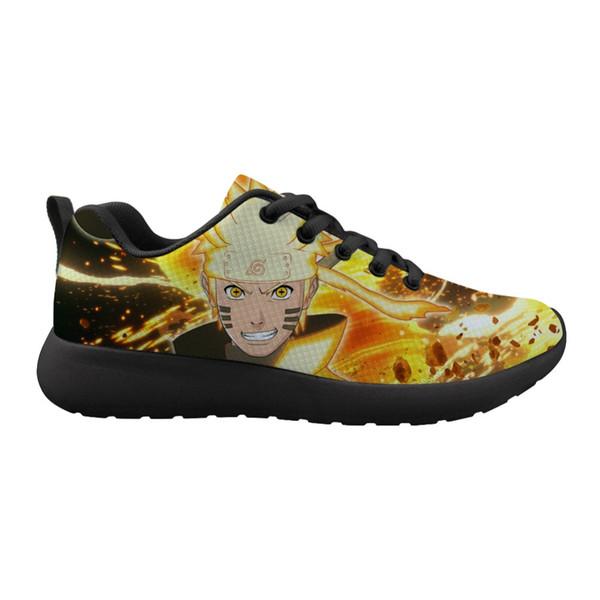 ELVISWORDS Naruto Sasuke Prints Casual Uomo Ragazzi Scarpe Stringate Scarpe basse Sneakers Outdoor Walking Sapato Feminino