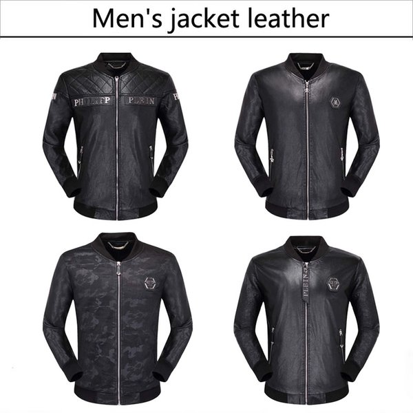 best selling NEW 2019 Fashion Men's leather motorcycle coats jackets used leather coat Leather jacket
