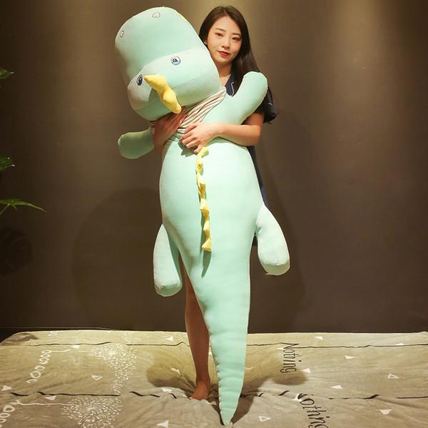 Dorimytrader kawaii crocodile plush toy doll giant animal alligator sleeping cushion bed pillow girl cute birthday gift 150cm