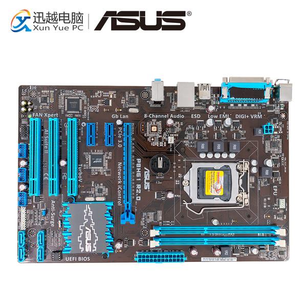Asus P8H61 R2.0 Desktop Motherboard H61 Socket LGA 1155 i3 i5 i7 DDR3 16G ATX On Sale