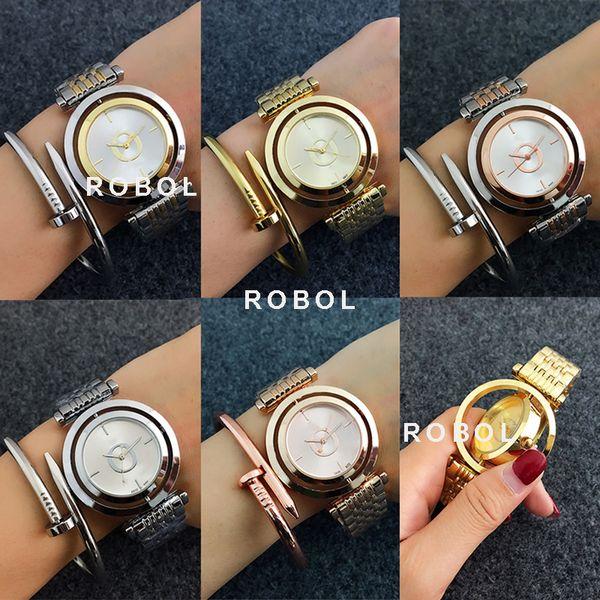 ROBOL Men Women Couples Quartz Common Watches Fashion Luxury Jewelry Gift Precision Temperament Elegant Original Copy Jewelry