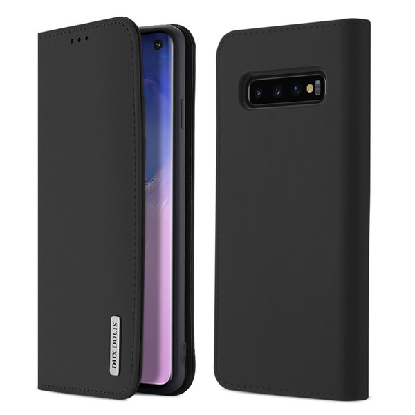 Dux Ducis Hakiki Deri Kart Yuvaları Cüzdan Flip Case Samsung Galaxy S10 S10 Artı S10e Not 9 S9 + S9 S8 S8 + Note8