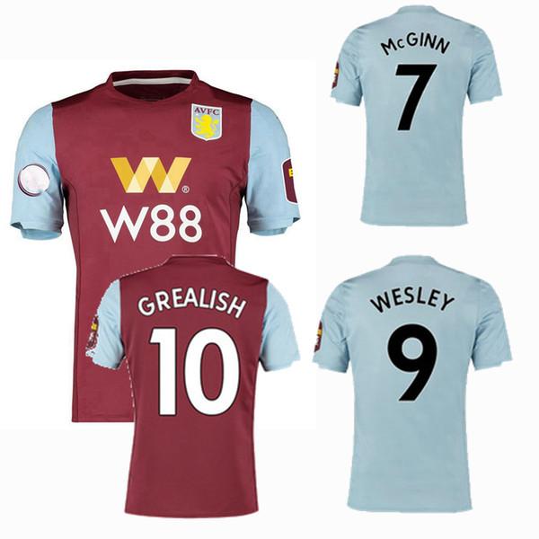 2019 2020 Aston villa Maglie da calcio KODJIA WESLEY HOGAN GREALISH home away 19 20 maglia da calcio S-2XL
