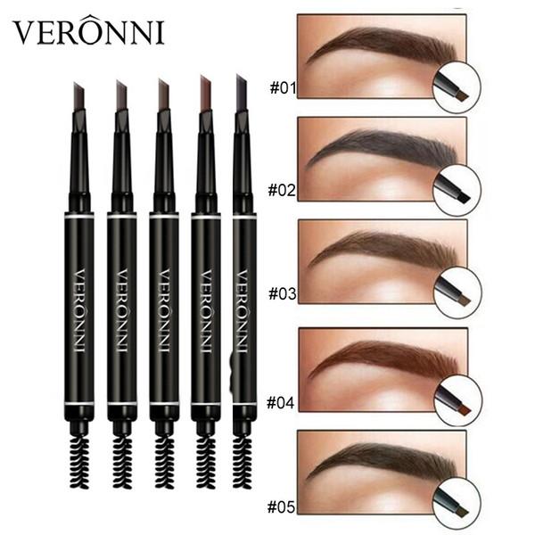 Double Ended Eyebrow Pencil Eyebrow Enhancer Enhancers Makeup Skinny Brow Liner with brush eye brow Pen tool