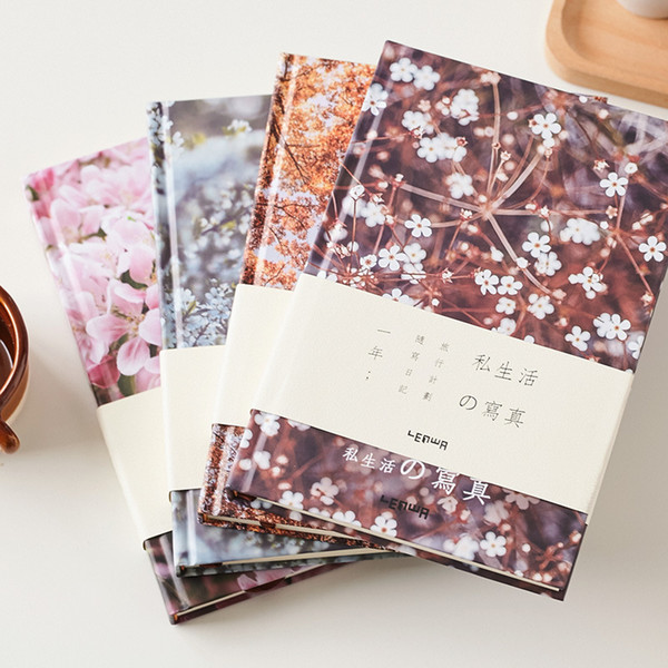 """Flower World"" Hard Cover Diary Beautiful Notebook Monthly Weekly Planner Lined Grid Journal Notepad Stationery Gift"