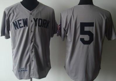 Mens #5 Joe DiMaggio baseball Jerseys Stitched 1948 #5 Joe DiMaggio retirement Patch Jersey M-3XL