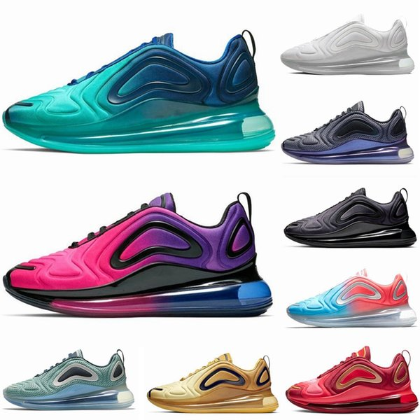 Großhandel Nike Air Max 720 Vapormax Airmax Laufschuhe Schuhe Für Männer Frauen Northern Lights Pink Sea Triple Schwarz Weiß Sunset Green CARBON GREY