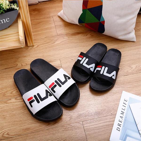 Cool Letter Slippers Flat Bottom Non-slip Lightweight Sandals Home Bathroom Outdoor Beach Men s and Women s Design Slippers