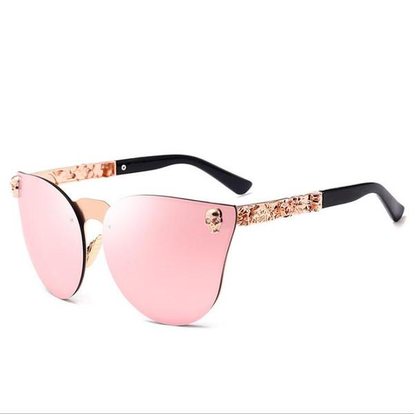 Yeni tasarım altın Çerçevesiz sıcak satış kedi gözler güneş gözlüğü kadın güneş gözlükleri lady hediye ücretsiz kargo