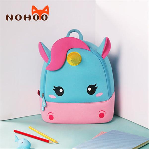 Children School Backpack Cartoon Rainbow Unicorn Design Soft Plush Material For Toddler Baby Girls Kindergarten Kids School Bags J190427