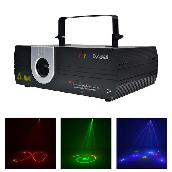 AUCD 1W RGB Animation Laser Projector Light DMX ILDA DJ Party Nightclub Show Profession Stage Light DJ-502