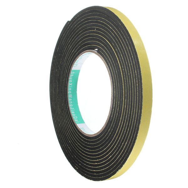 5m*10mm*2mm/3mm Single Sided Adhesive Waterproof Weather Stripping Foam Rubber Strip Tape For Window Seal Strip