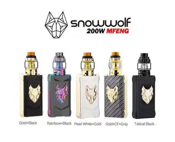 100% Original Sigelei SnowWolf Mfeng 200W TC Starter Kit SnowWolf Mfeng 200W TC Box Mod with Mfeng Sub ohm tank