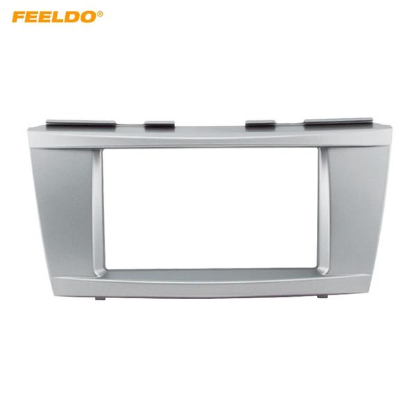 FEELDO Car Refitting DVD Radio Panel Dash Fascia Audio Frame Kit 173*98mm for Toyota Camry Altis 2006-2011 Frame #3261