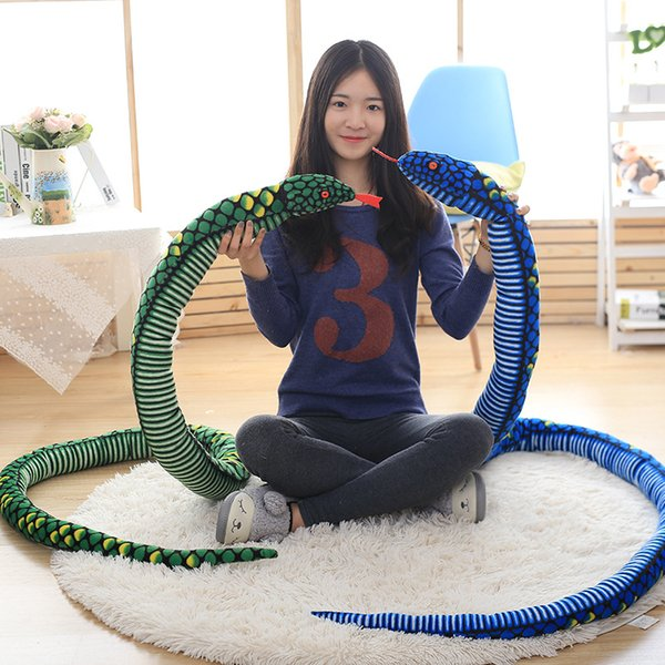 [New] Large size 280cm The snake boa constrictor plush toy soft PP cotton Stuffed Hold Pillow Toy kids gift