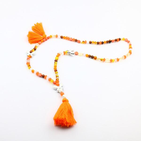 Longo boêmio borboleta retro colar de borla miçangas multi cor camisola blusa vestido de jóias acessórios para a mulher de moda diária