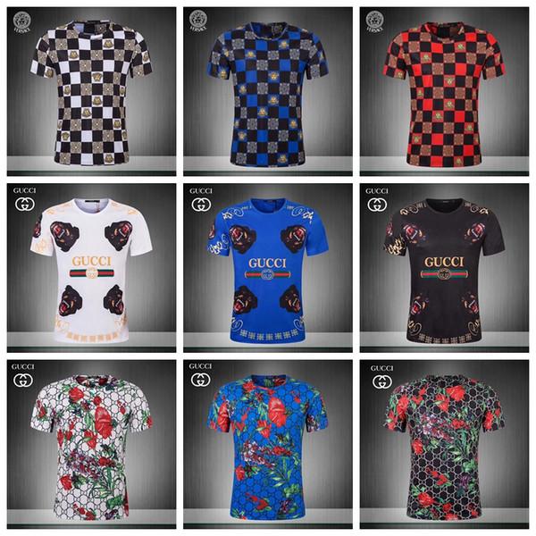 19ss Summer Street wear Fashion Italian 3 d printing Men High Quality with smooth silky cotton Tshirt Casual Women Tee T-shirt M-3XL JS10