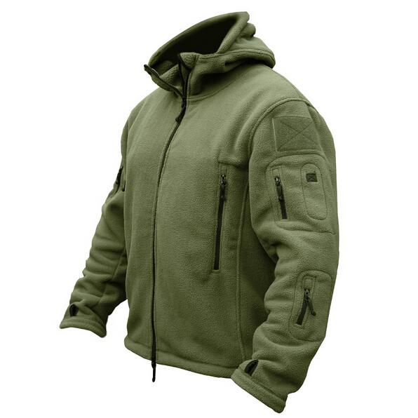 Man Fleece Tactical Softshell Jacket Polartec Thermal Polar Hooded Outerwear Coat Army Clothes