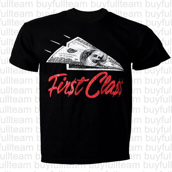First Class maglietta courte casuale maniche corte nera Mens Tops Moda girocollo T-shirt Taglia S M L XL 2XL 3XL