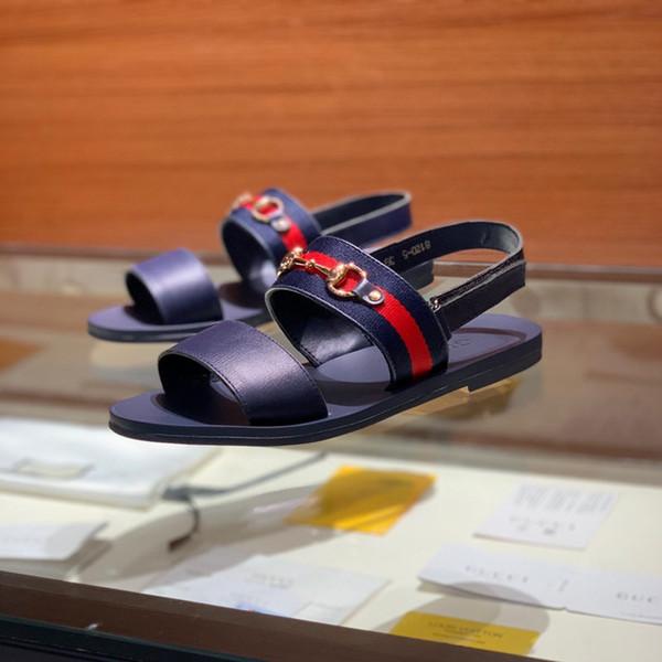 Fashion slide flat sandals slippers for male WITH ORIGINAL BOX Hot sale Designer men beach flip flops slipper BEST QUALITY