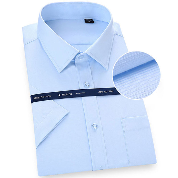 Brand Mens Short Sleeve Pure Cotton Formal Shirt find