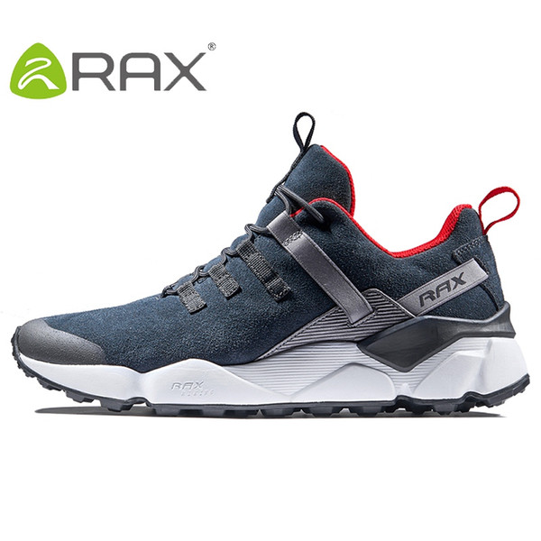 RAX New Men's Hiking Shoes Leather Waterproof Cushioning Breathable Shoes Women Outdoor Trekking Backpacking Travel Men #97164