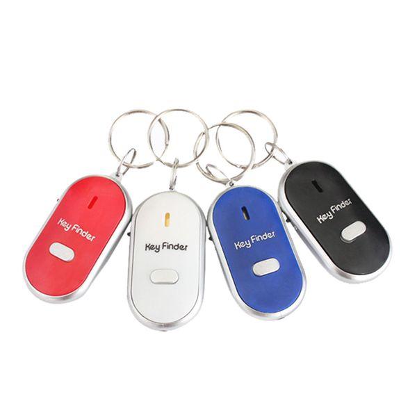 LED Light Torch Remote Sound Control Lost Key Car Motor Finder Locator Keychain Mini Alarm Locator Track Key #1215