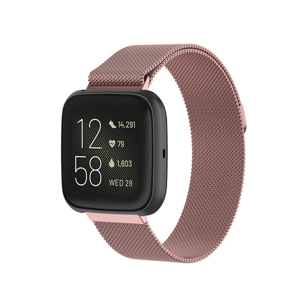 Smart watch band trap for fitbit ver a 2 1 lite tainle teel me h bracelet metal loop magnetic adju table mart acce oire