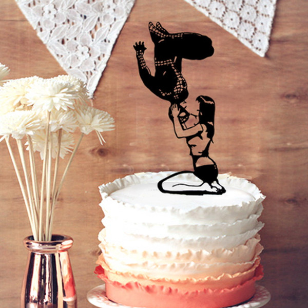 Cake topper di Spiderman e Mary Jane Silhouette