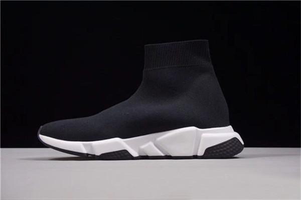 2019 designer homens mulheres Speed Trainer moda Sapatos Meias de luxo preto whe azul glitter Plana mens Formadores tênis de corrida tamanho 36-45