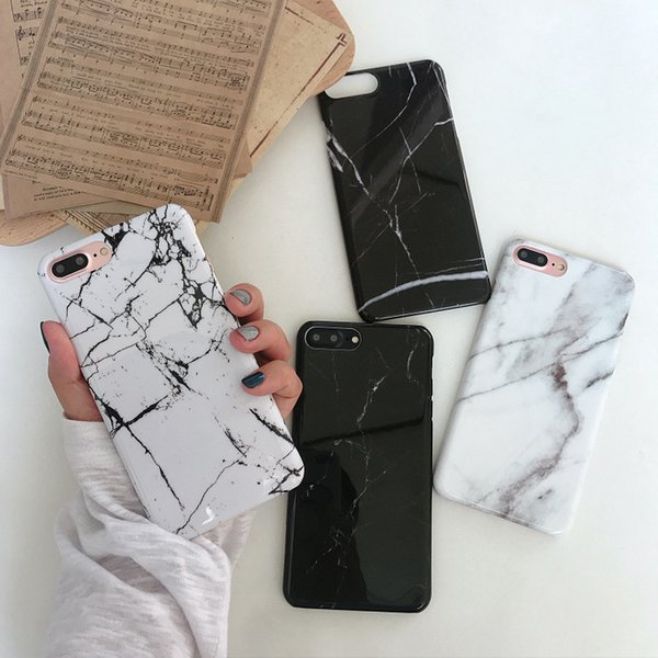 Northern Europe Cold Wind Marble Pattern Applicable To Apple Xsmax/xr Mobile Shell IPhone7plus/8/6s Hard Shell