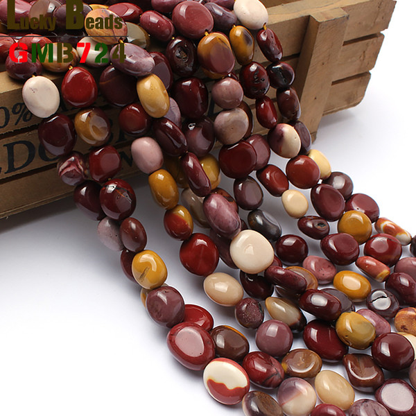 for jewelry 8-10mm irregular natural mookaite stone beads 15inches natural shaped stone beads for jewelry making free shipping