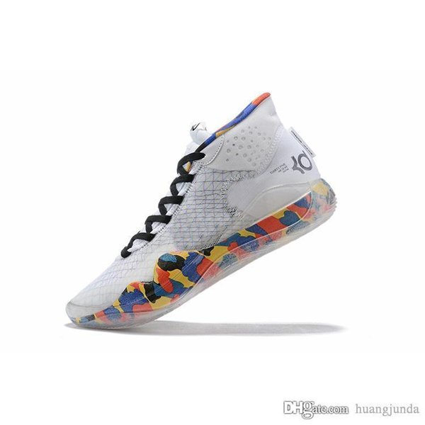 Mens what the kd 12 basketball shoes White Floral EYBL Easters BHM Cool Grey lebron 16 kevin durant high cut sneakers boots with box size 7